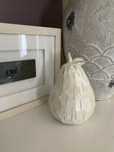 White Wooden Pear Ornament