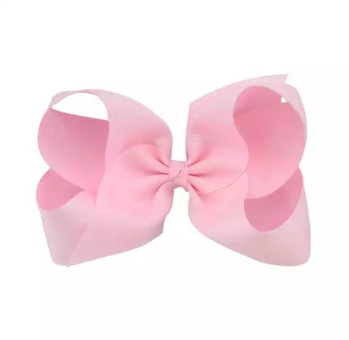 Large Pink Hair Bow Clip
