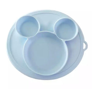 Silicone Baby Plate - Blue