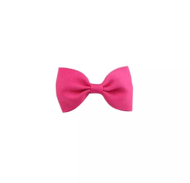 Hot Pink Hair Bow Clip