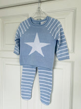 Rock a Bye Baby Blue Star Knitted Set