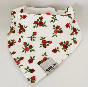 MINI ELLA RED - Organic Dribble Bib