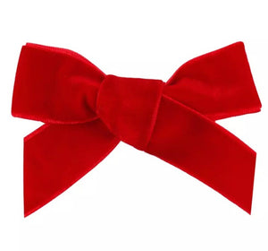 Red Velvet Hair Bow Clip