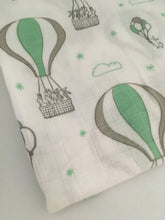 Large Muslin/ Swaddle Blanket - Hot Air Balloon