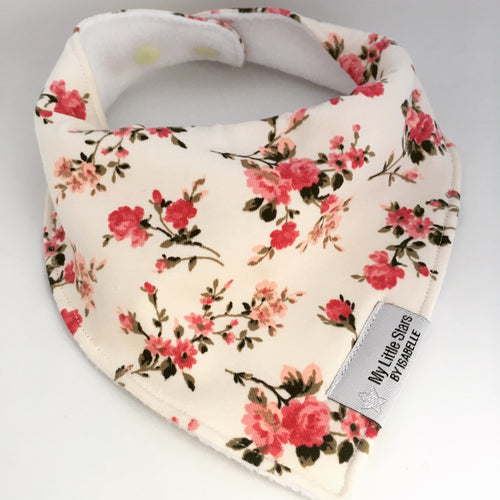 Cream Roses Dribble Bib