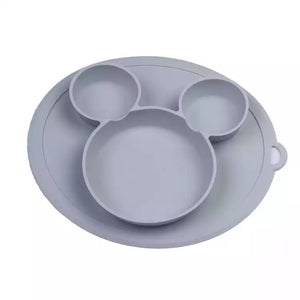 Silicone Baby Plate - Grey