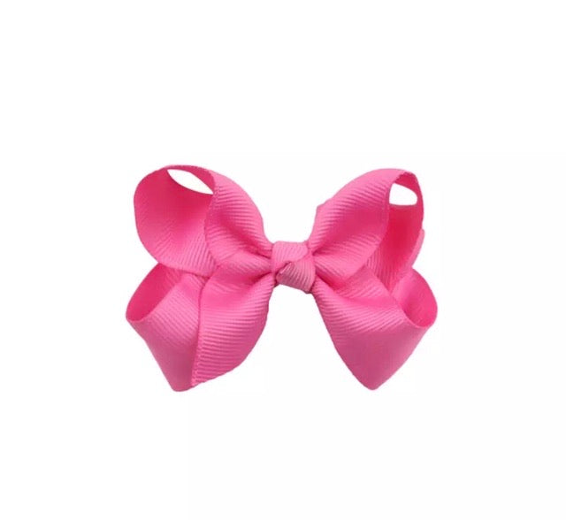 Medium Pink Hair Bow Clip