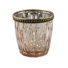 Harlequin Votive Rose Gold T-light Holder