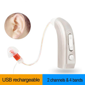 Rechargeable Digital Hearing Aid (2 Channels & 4 Bands)