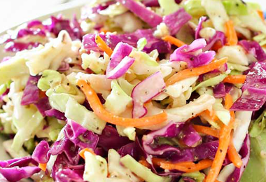 Crunchy Coleslaw with Apple Cider Vinegar