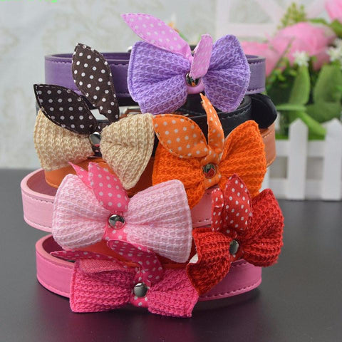 Butterfly knot collar