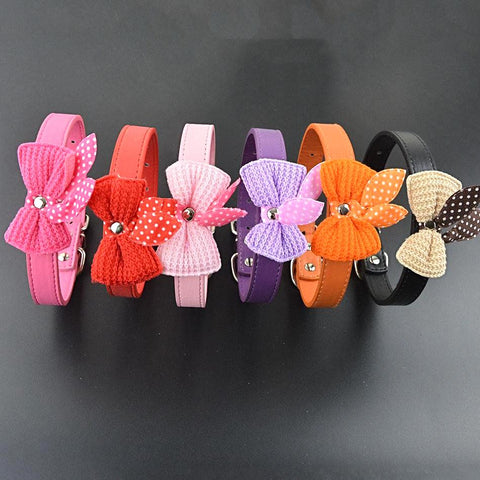 Cute Handmade Collar with Butterfly Knot