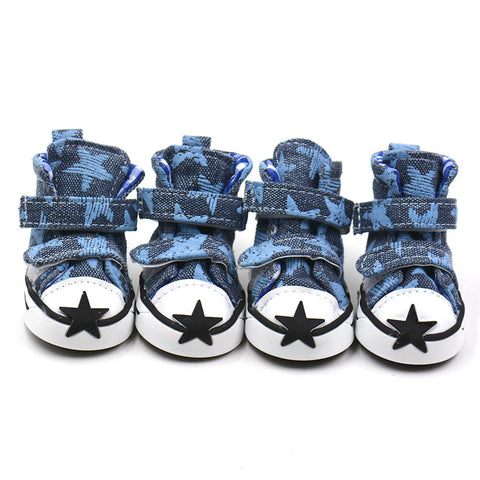Stylish Star Pattern Dog Sneakers