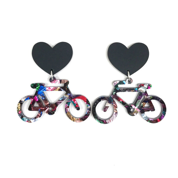 Bicycle Earrings - Small Crinkle
