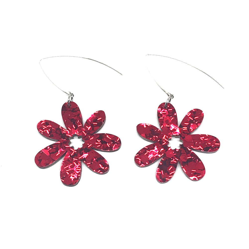 Daisy Flower Chunky Red