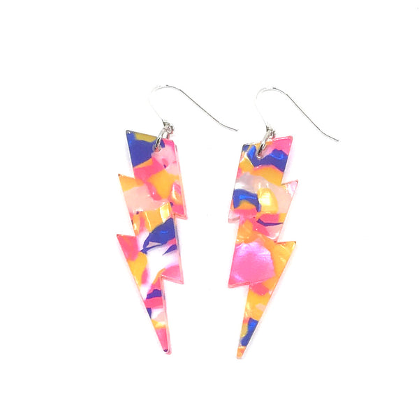 Fairy Floss Lightning Bolt Earrings