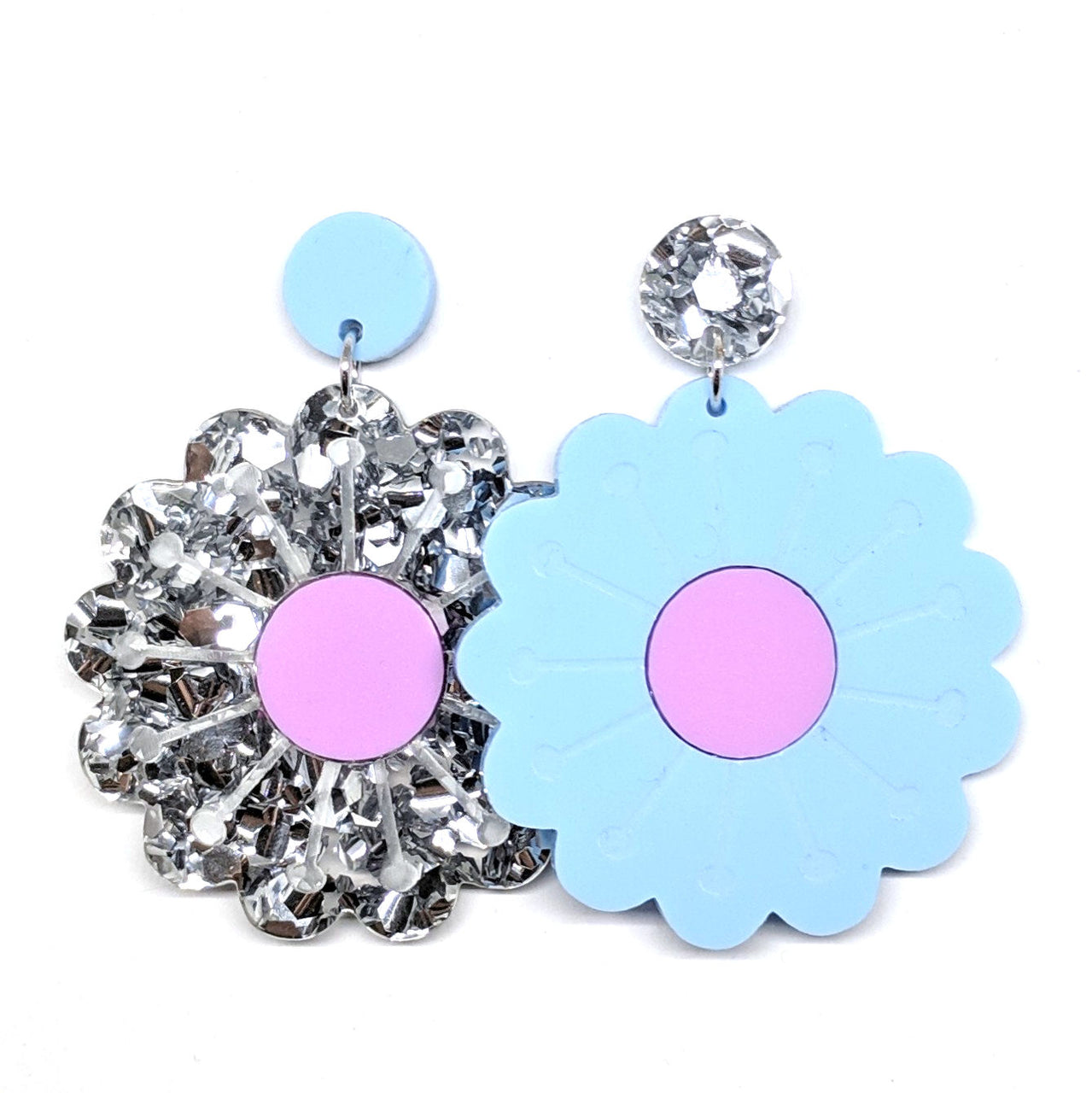 LG Poppy - Pastel Blue Chunky Silver and Pastel Plum