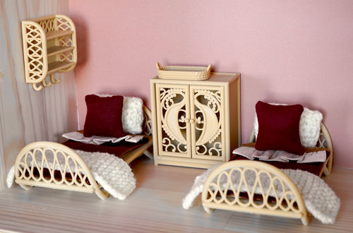 Rattan inspired single sleigh bed
