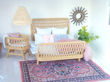 Queen size rattan bed