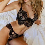 Beautys Store® 2018 Fashion 1PC Women Lingerie Trim Straps Bra Soft Push Up Top Deep V Back Sexy Lace Bralette Set Transparent Cup Beauty Decor
