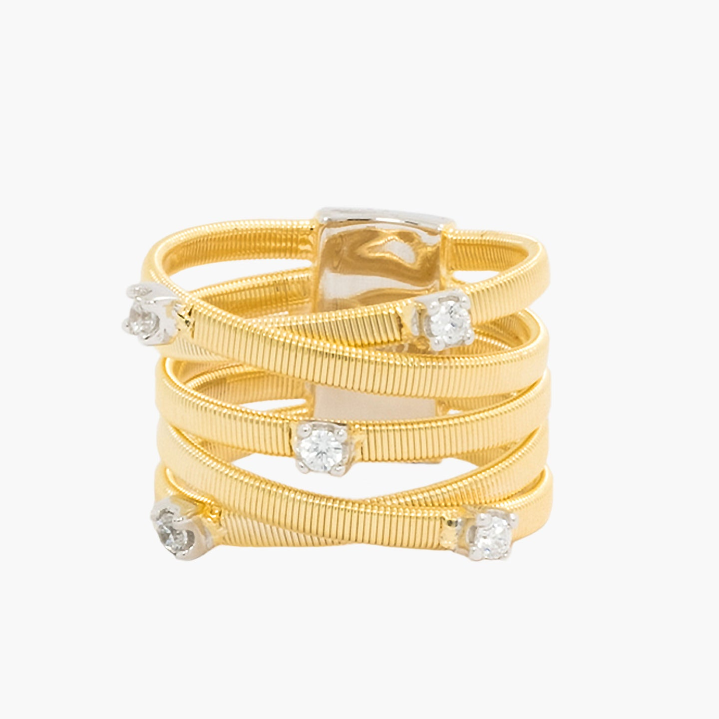925 Criss Cross Omega Ring