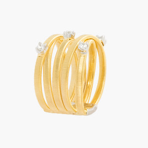Fashion Jewelry Trendy Gold plated silver omega interlaced criss cross ring side