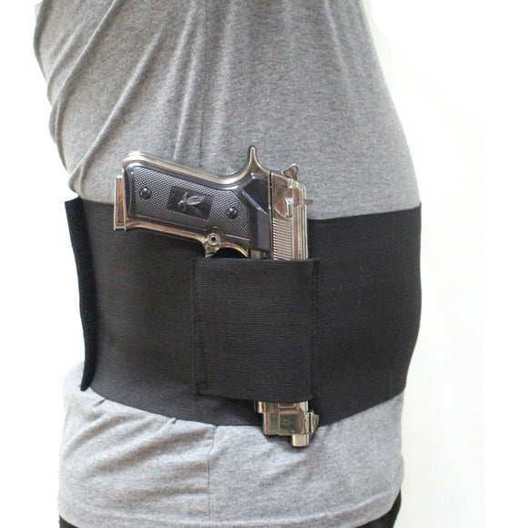Concealed Carry Belly Band Holster with 2 Magazine Pouches-Fits 38