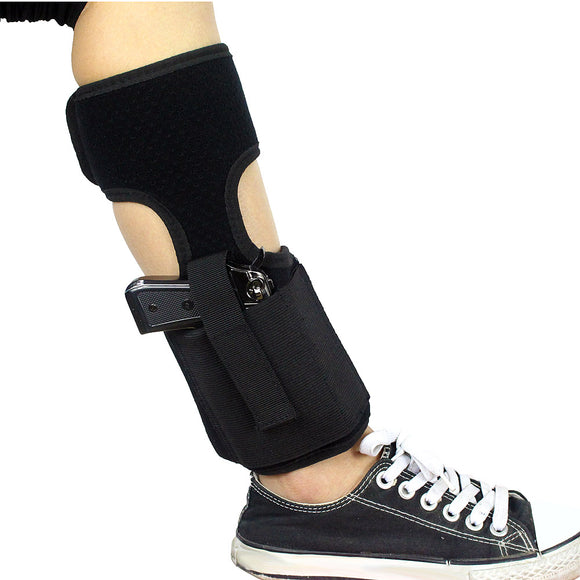 Neoprene Concealed Carry Ankle Holster with Mag Pouch