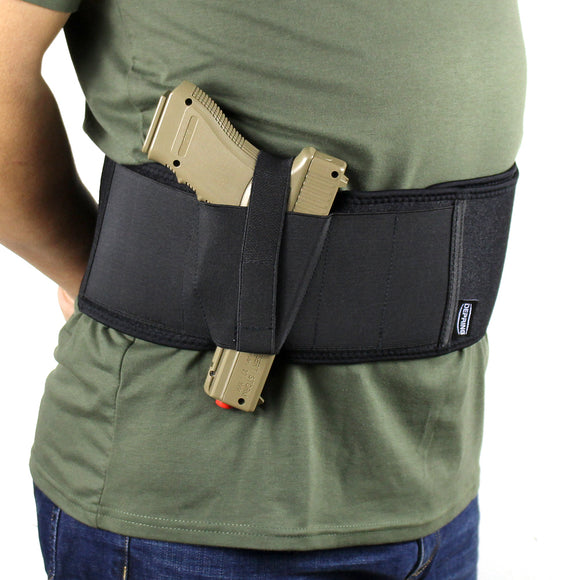 Concealed Carry Belly Band Holster for Ultimate Comfort-Fits up to 50