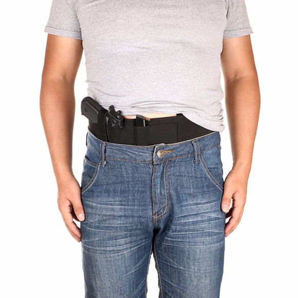 Concealed Carry Belly Band Holster Ambidextrous With 2 Mag Pouch and Phone Pouch-Fits to 48