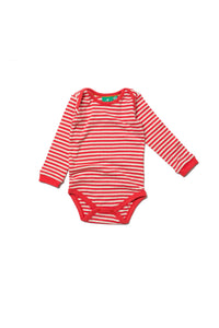 Pointelle Red Stripe Babybody