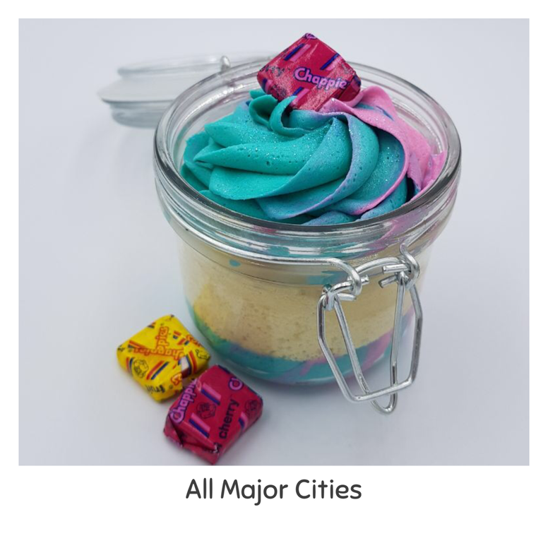 Chappie Cupcake in a Jar