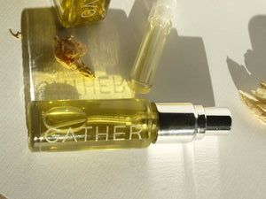 Earth Laughs in Flowers, natural botanical perfume by Gather, yuzu, ylang ylang, orange blossom, ambrette musk, pure joy