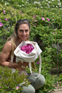 Ananda of Gather perfume, collecting wild roses