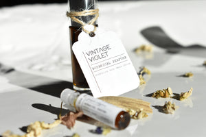 Vintage Violet Botanical Perfume by Gather, 100% Natural Luxury Fragrance