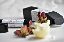 Cocoa Rose Luxury Lip Balm by Gather, 100% Natural, real rose and chocolate