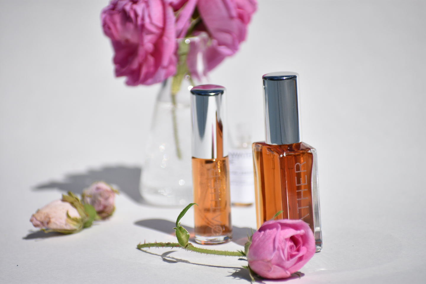 Rainwater Rose botanical perfume by Gather, natural rose fragrance