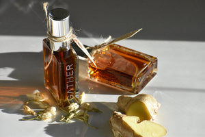Ginger Jasmine botanical perfume by Gather, Collector's ed, 100% Natural, Spiced floral, gourmand fragrance