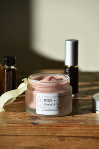 Roses Chocolate face cream 100% natural by Gather