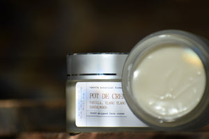 POT DE CREME - Gentle Luxury Face Cream - 100% natural, hand whipped - Vanilla Sandalwood Ylang