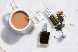 Tea Season, The London Fog, natural botanical perfume by Gather, Bergamot, Black Tea, Honey, Jasmine, Vanilla