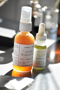 Honey Rosewater cleansing nectar by Gather, 100% Natural skin care, raw honey, roses, rosewood