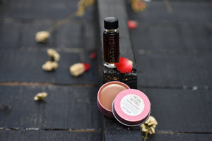 PETAL FETISH | Nourishing Lip Perfume Balm | Tobacco - Rose + Cherry oil | Limited Edition