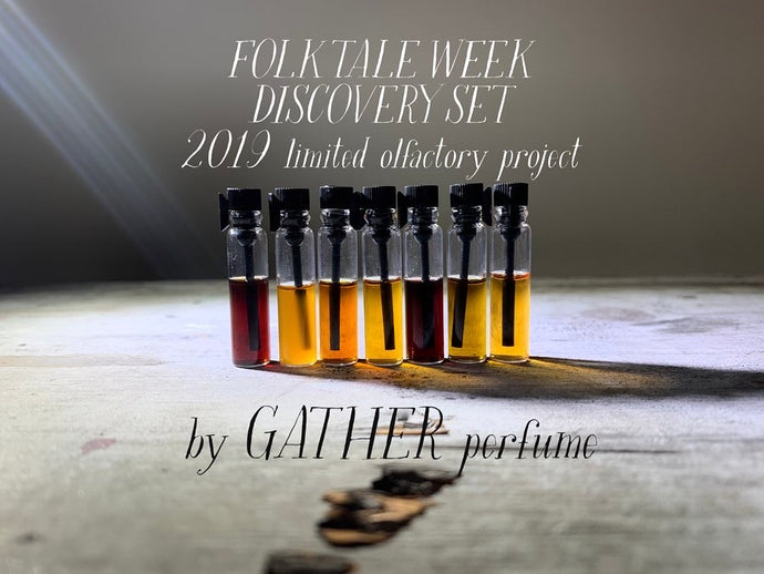 FOLK TALE WEEK | 7 PERFUME PROMPTS | Studio Sketch Sampler, VERY LIMITED (an Aromatic Muse installment)