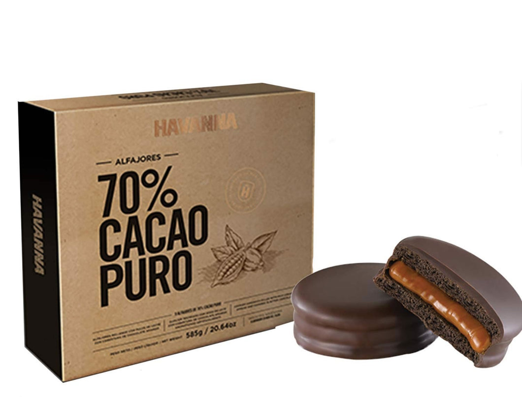 Alfajor Chocolate 70% Cacao Box 9 - Havanna