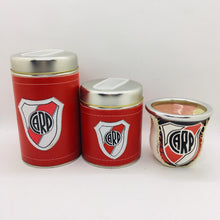 Load image into Gallery viewer, Set de Mate (3 Piece Set) Eco Cuero ~ River Plate
