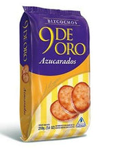 Load image into Gallery viewer, 9 De Oro Bizcochos Azucarados Sugar Coated Biscuits / 210g