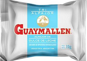 Guaymallen Alfajor Triple Blanco with Dulce de Leche (Pack of 3)