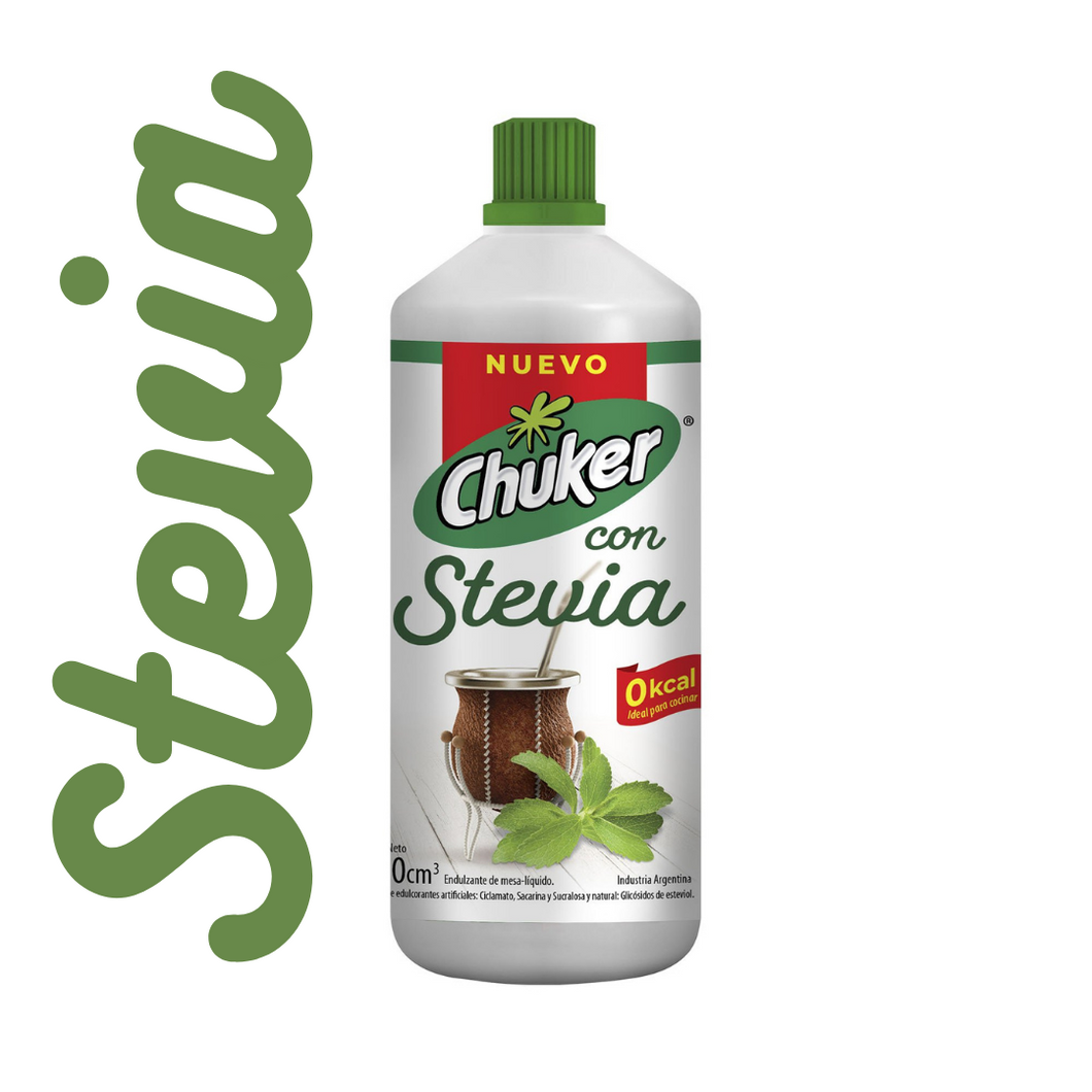 Chuker Endulzante con Stevia Liquid Sweetener with Stevia / 250cm3 - kosher