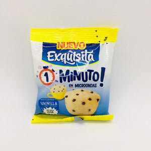 Exquisita Bizcochuelo en Taza Vainilla con Chips de Chocolate Cake in Mug Vanilla w/ Chocolate Chips 55g (Pack of 3)